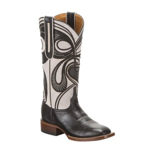 Lucchese Black and White Boots