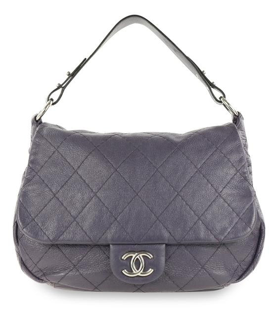 Item - On The Road Flap Purple Leather Hobo Bag
