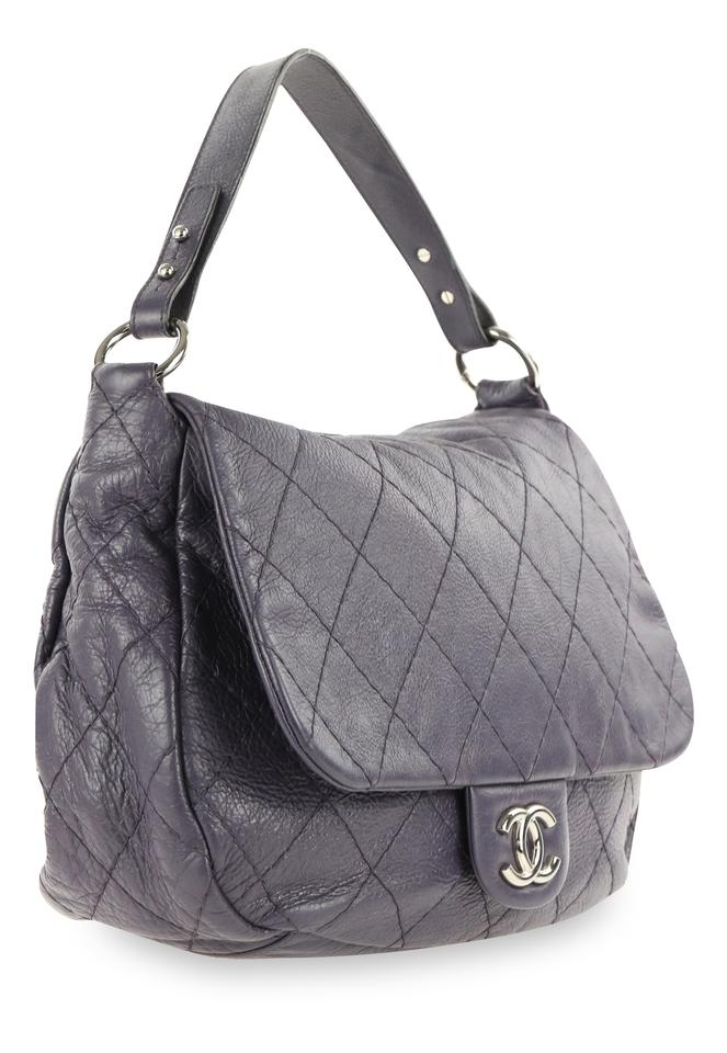 7f0340955774 Chanel On The Road Flap Purple Leather Hobo Bag - Tradesy