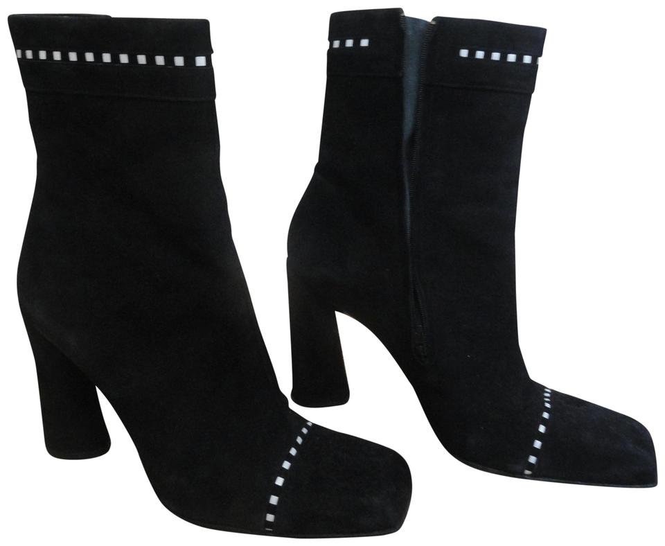 cd3aa95cc4b1 Karl Lagerfeld Black Suede Ankle Boots/Booties Size EU 39.5 (Approx ...