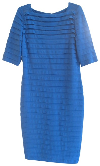 Item - Royal Blue Partial Tuck Elbow Sleeve Night Out Dress Size 14 (L)