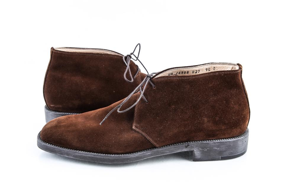 88e9b0af3dd5 Salvatore Ferragamo Brown Chukka Suede Lace-up Ankle Boots Shoes Image 0 ...