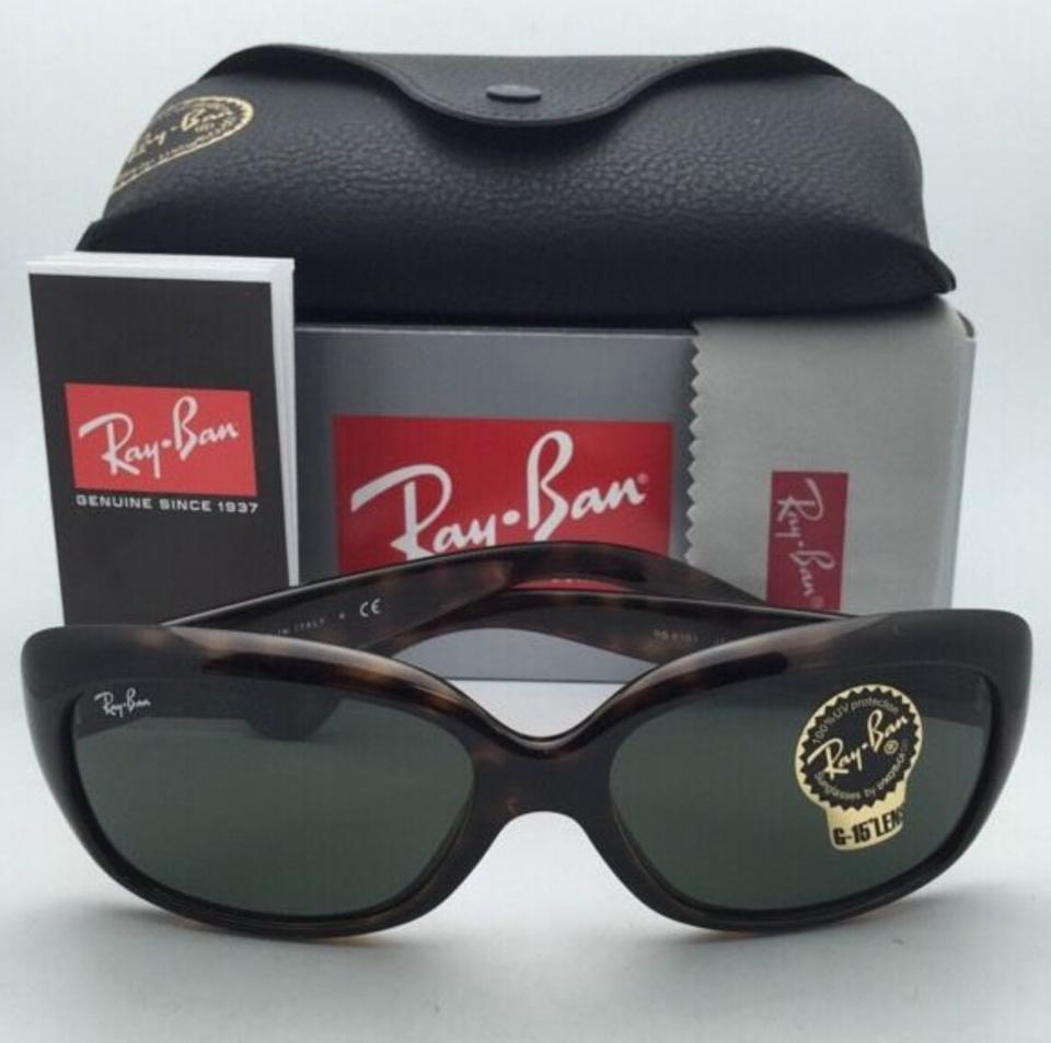 bd6c49b531e Ray-Ban New Jackie Ohh Rb 4101 710 Tortoise Frame W  G-15 Green W   Sunglasses - Tradesy