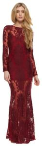 For Love & Lemons And Gown Lace Limonada Burgundy Dress