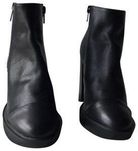 430e7f6d082 Steve Madden Black Cavalier Suede Leather Peep Toe Ankle Boots ...