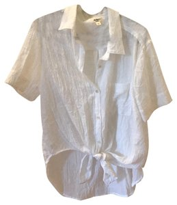 Dylan George Button Down Shirt white