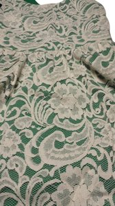 short dress Cream lace over green on Tradesy