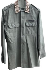 Forte Couture Button Down Shirt Olive