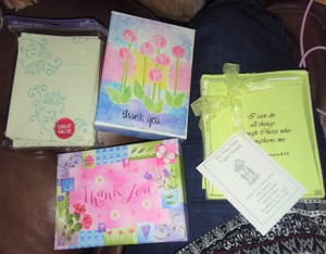Multicolor Hallmark/Crown Point 4 Packs Of Thank You Cards