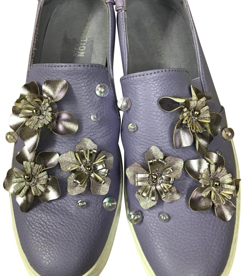 83a323421452 Kenneth Cole Lavender Reaction Cheer Floral Slip-on Platform Sneaker ...