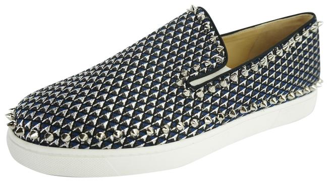 Item - Multicolor Silver Pyramid Glitter Spiked Pik Boat Skater Sneakers Size EU 41.5 (Approx. US 11.5) Regular (M, B)