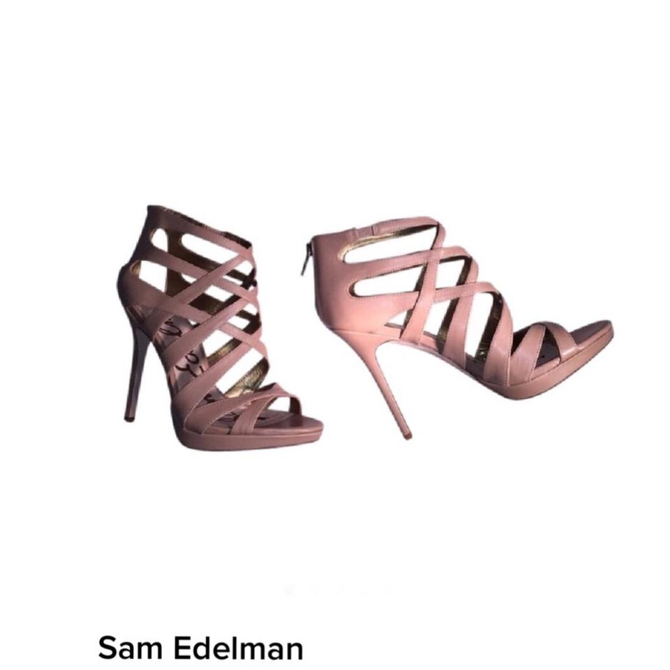 5919a87fc Sam Edelman Nude Caged Heels Boots Booties Size US 8 Regular (M