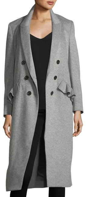 Item - Light Gray Slim Double-breasted Wool/Cashmere Coat Size 8 (M)