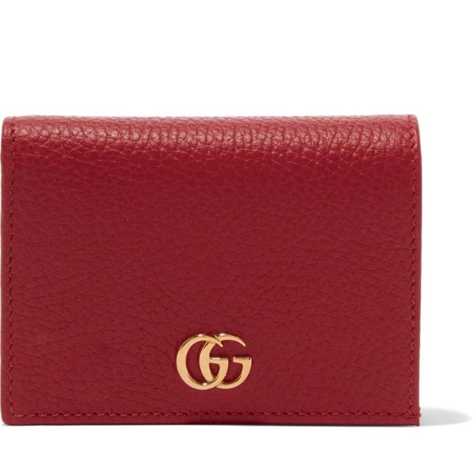 bb01743a3556 Gucci Red Marmont Petite Texture Leather Wallet - Tradesy