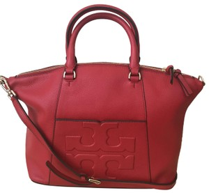 fa982768c01 Tory Burch T Bombe Medium Slouchy Red Leather Satchel - Tradesy
