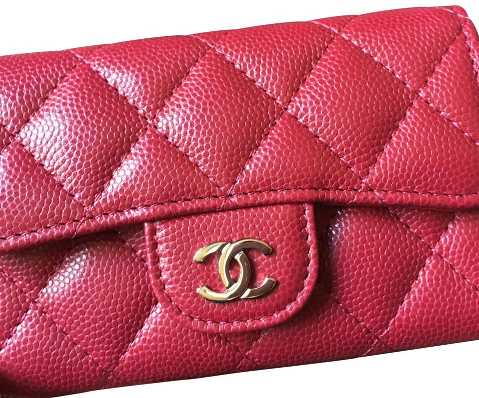 18717216dcab Chanel Rare Sold Out 18b Dark Raspberry Pink Card Case Wallet - Tradesy