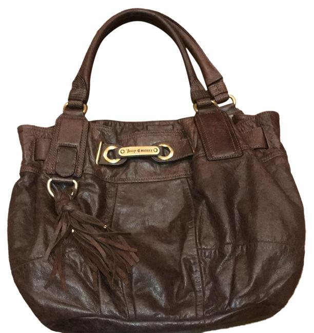 Item - Brown Lambskin Leather Satchel