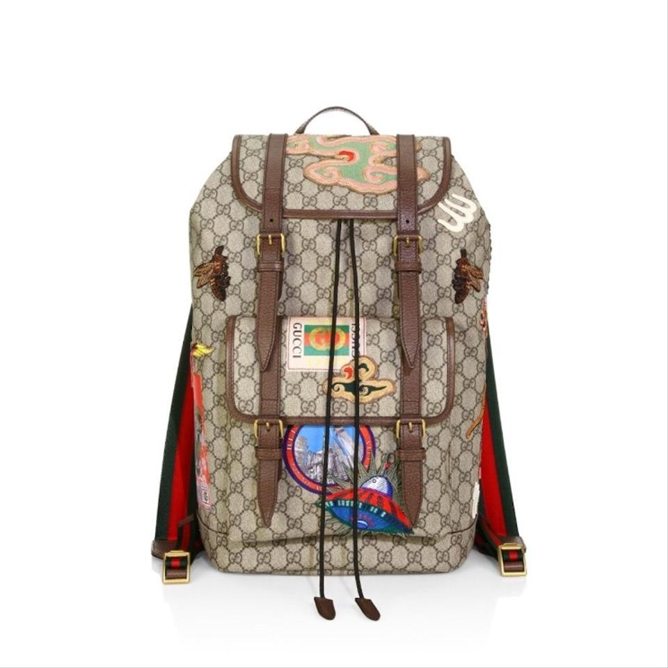 70c565564297 Gucci Gg Supreme Patches Courier Backpack - Tradesy