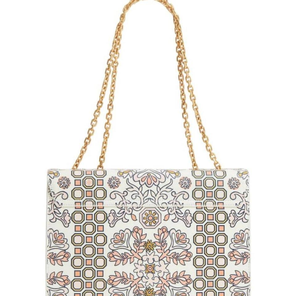 e05be34164a Tory Burch Gemini Link Chain Printed Hicks Garden Leather Shoulder Bag -  Tradesy