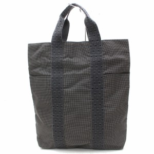 Hermès Herline Foure Fourre Tout Cabas Tote in Gray