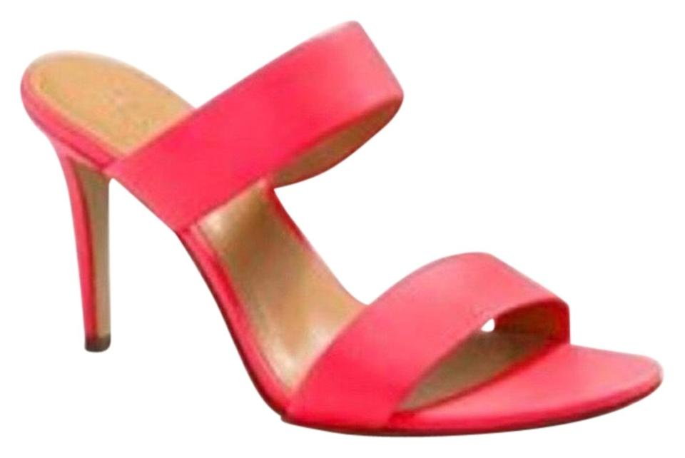 0201d7a8e0b9 J.Crew Neon Pink Lena Sandals Pumps Size US 8 Regular (M