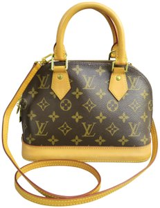 Louis Vuitton Alma Bb Canvas Satchel in Monogram