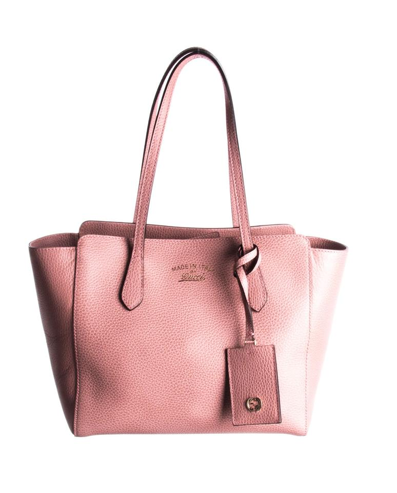 db11af62ef46 Gucci Tote Swing New Pink Leather Shoulder Bag - Tradesy