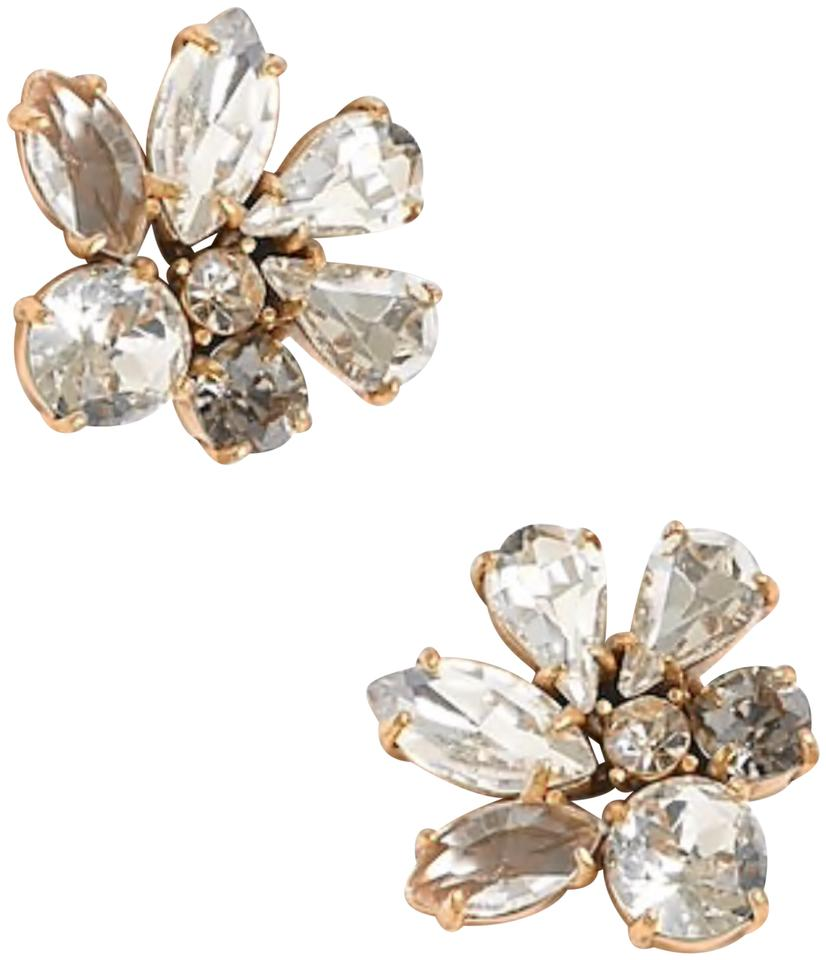 a91d77c0928 J.Crew Crystal Cluster Stone Earrings - Tradesy