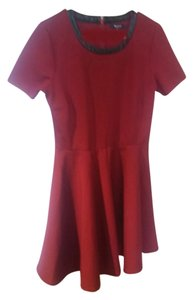 Madewell short dress Burgundy/black on Tradesy