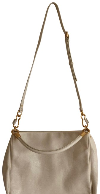 Item - New Q Hillier Convertible White Leather Hobo Bag