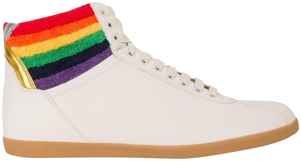 781dc9ef79a Gucci White New 2018 Spring Summer Rainbow High-top Sneaker Sneakers ...