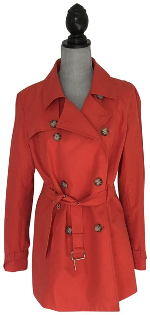 Item - Reddish Orange Trench Coat Size 12 (L)