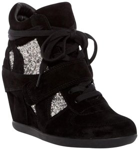 Ash Bowie Bowie Glitter Bowie Wedged Sneaker Black Athletic