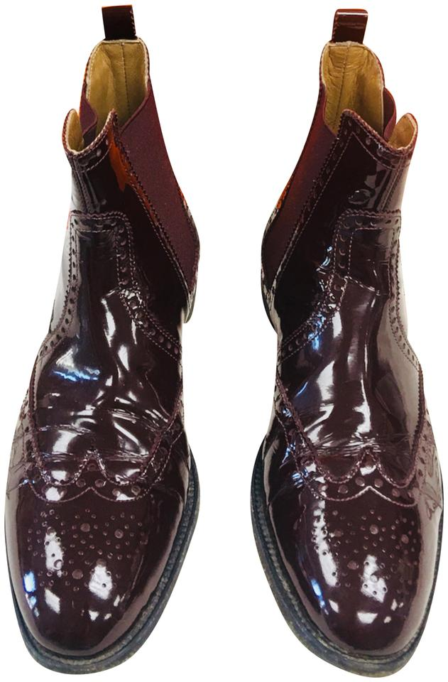 woman Hermès use Burgundy Boots/Booties Make full use Hermès of materials ef5728