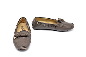 The Original Car Shoe Pebble Soles Brown Flats