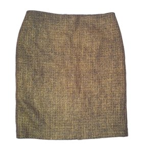 Talbots Tweed Foil Pencil Skirt Gold/black