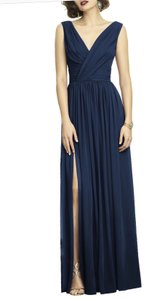 Navy Chiffon 5253758 Traditional Bridesmaid/Mob Dress Size 10 (M)