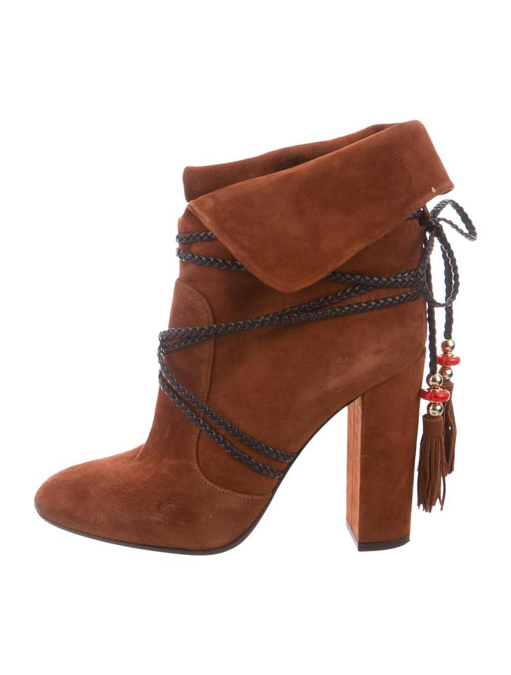 LADY Tan Aquazzura Tan LADY Ankle Boots/Booties Excellent craft 48a636