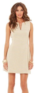 Lilly Pulitzer short dress Gold White Gold Stripes on Tradesy