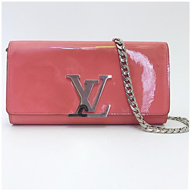 Item - Chain Added Pink Patent Leather Clutch