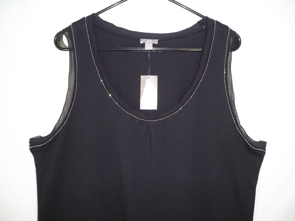 3c80cfa2953c4 J. Jill Black Stretch Embellished Tank Top Cami. Size  16 (XL ...