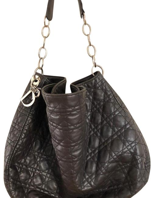 Item - Cannage Large Brown Lambskin Leather Hobo Bag