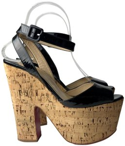 adee485942bb Black Christian Louboutin Wedges - Up to 90% off at Tradesy