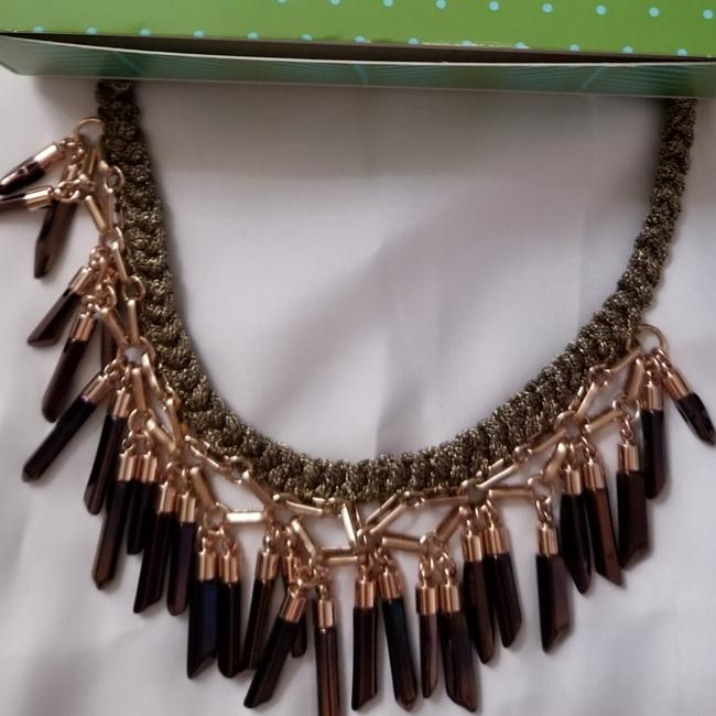 Item - Brown Multi Bora Fringe Necklace