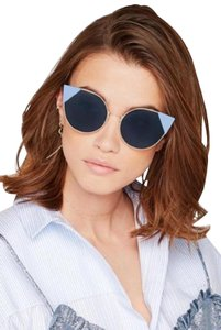 Fendi FENDI LEI FF0190S 000/A9 Rose Gold / Blue Gradient Cateye Sunglasses