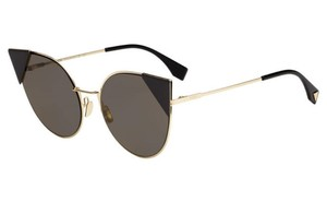 Fendi Fendi Sunglasses FF0190S 002M Cat Eye Gold/Black Sunglasses