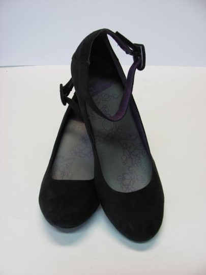 Laundry by Shelli Segal Suede Size 10m New Looking black Wedges Image 2