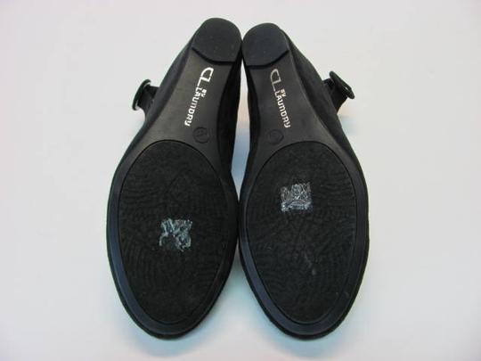 Laundry by Shelli Segal Suede Size 10m New Looking black Wedges Image 3