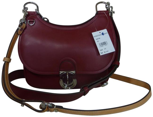 Item - James Small Saddle Red Leather Cross Body Bag