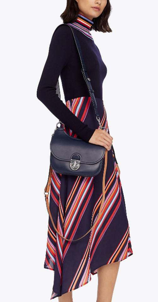 1bc77fededc394 Tory Burch James Small Saddle Red Leather Cross Body Bag - Tradesy